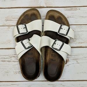Birkenstock White Arizona Sandals 38